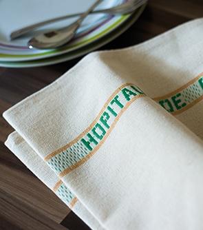 Torchon et serviettes personnalisés