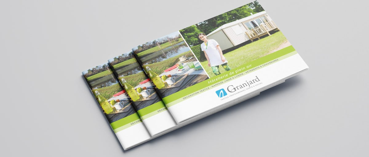 brochure textile camping